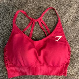 Gymshark Energy Seamless Bra Beet Red Small